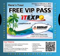 itexpo ticket 888voip 200x187 Complimentary ITEXPO Expo Pass from 888VoIP