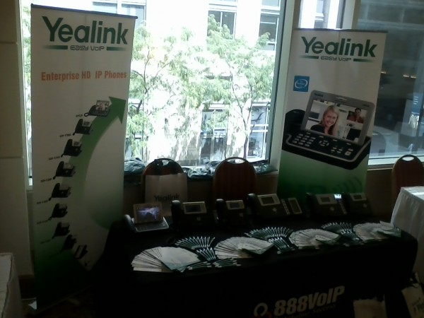 888VoIP Yealink Booth 21 600x450 888VoIP and Yealink Attended ClueCon 2012