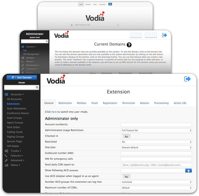 Vodia PBX Interface