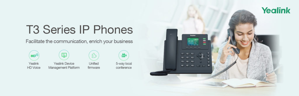 Yealink T3 Series Banner, Available through 888VoIP